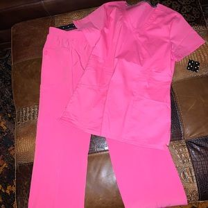 New With Tags!!! Pink Scrubs. Size Medium